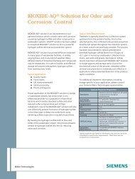 BIOXIDE-AQ® Solution for Odor and Corrosion Control - Siemens