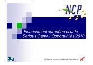 Financement européen pour le Serious Game - Opportunités ... - Awt