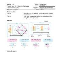 PHYS 222 Worksheet 12 – Kirchhoff's Laws - Iowa State University