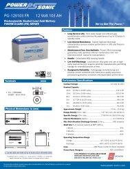 Download Spec Sheet - Battery Specialties