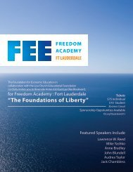 """""""The Foundations of Liberty"""" - Foundation for Economic Education"""