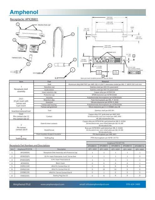 Plug: APX2A801TWINAX SEAL