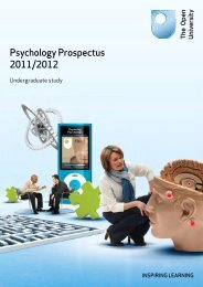 Open University: Psychology Prospectus (2011/2012) - Strode College