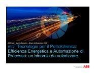 mcT Tecnologie per il Petrolchimico Efficienza ... - ABB - ABB Group