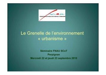 Présentation FNAU - S. Debeaumont