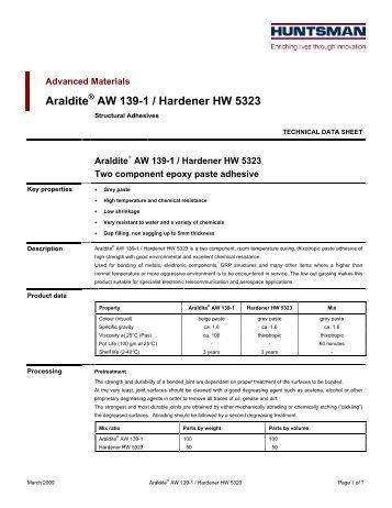 Araldite AW 139-1 Hardener HW 5323 eur e - DanLube