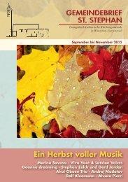 ein herbst voller musik - St. Stephan