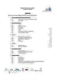 WATERFORD Captains Manual - Sail Training International