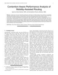 Contention-Aware Performance Analysis of Mobility-Assisted Routing
