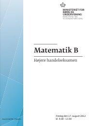 Matematik B, hhx, den 17. august 2012 (pdf