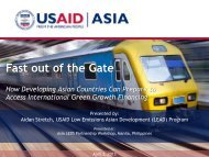findings from USAID's Fast Out of the Gate study - Low Emissions ...