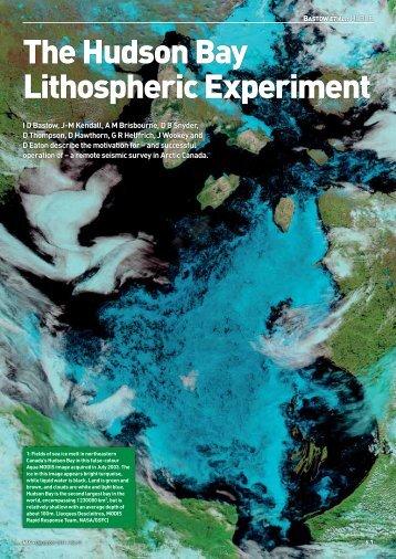 The Hudson Bay Lithospheric Experiment - University of Bristol