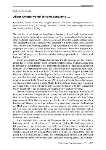 Allem Anfang wohnt Entscheidung inne - ZAG der Universität Freiburg