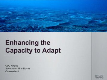 Enhancing the Capacity to Adapt - University of Queensland