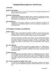 Vedligeholdelsesreglement for afd. 39 Asmild Huse