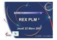 REX PLM ² - PLM lab