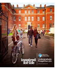 Undergraduate Prospectus 2014 - University of Worcester