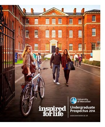 Undergraduate Prospectus 2014 - University of Worcester