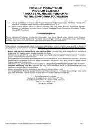 DOWNLOAD Formulir Pendaftaran - Kemahasiswaan UM