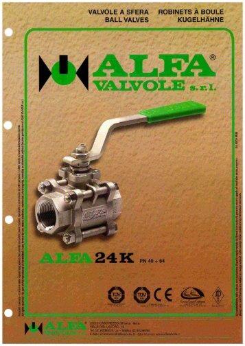 Valvole a sfera 3 pezzi: ALFA 24K - Roffia