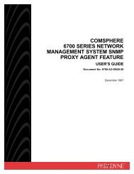 comsphere 6700 series network management system snmp proxy ...