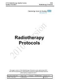 Radiotherapy Protocols