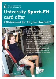 Sports Information - University of Winchester