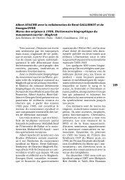 Dictionnaire biographique du mouvement ouvrier: Maghreb