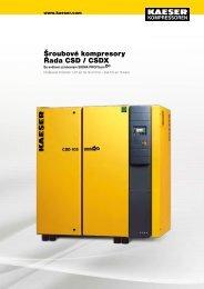 Šroubové kompresory Řada CSD / CSDX - Kaeser Kompressoren sro