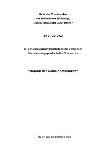 Eine Rede zur Übersicht - attac Marburg