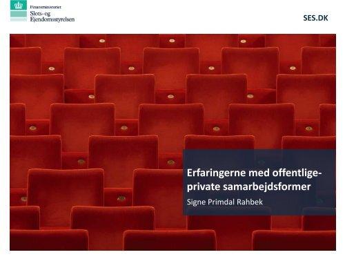 Erfaringerne med offentlige-private samarbejdsformer - primo