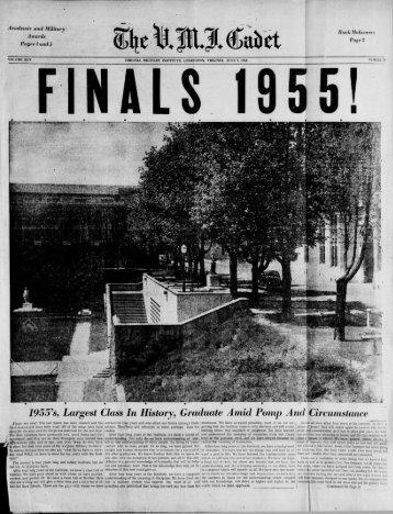 The Cadet. VMI Newspaper. June 07, 1955 - New Page 1 [www2 ...