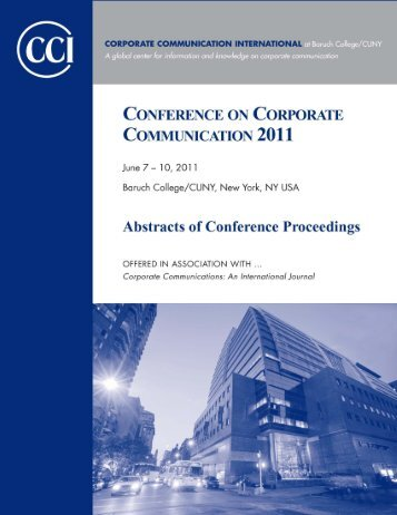 Abstracts of Conference Proceedings - Corporate Communication ...