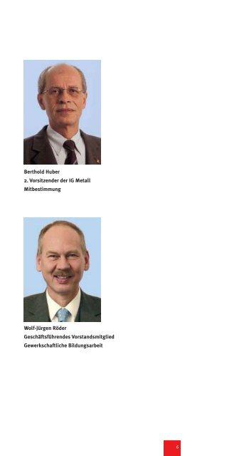 Berthold Huber 2. Vorsitzender der IG Metall Mitbestimmung Wolf ...