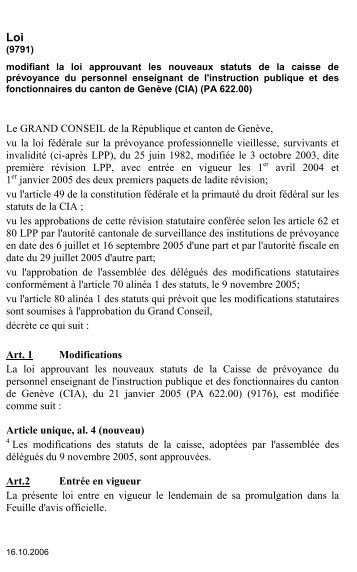 9791 - Etat de Genève