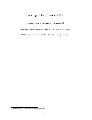Tracking Polar Lows in CLM