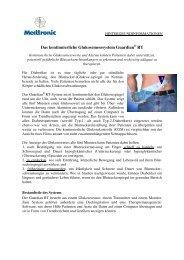 Das kontinuierliche Glukosemesssystem Guardian RT - Medtronic