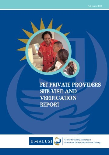 fet private providers site visit and verification report - Umalusi