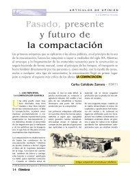 Pasado, presente y futuro de la compactación - Colegio de ...