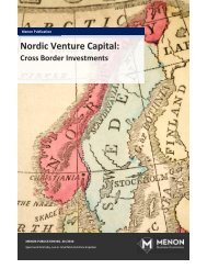 Nordic Venture Capital: - Menon - Business Economics
