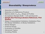 Steps in bioanalytical Validation