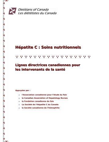 Hépatite C : Soins nutritionnels - SOS hépatites