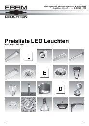 Preisliste LED Leuchten - Frauchiger AG Münsingen BE