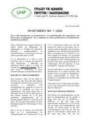 UHFs Nyhetsbrev nr. 1 - UHF-Oslo