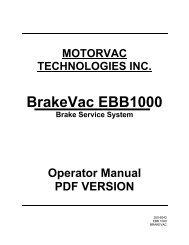 BrakeVac EBB1000 - aesco