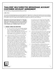 tiaa-cref self-directed brokerage account customer account agreement