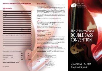 double bass convention - Janáčkova akademie múzických umění v ...