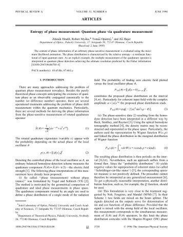 Entropy of phase measurement