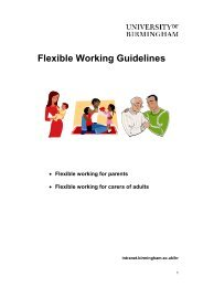 Flexible working guidelines (PDF - 127KB) - University of Birmingham