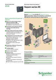 catalog protection relay sepam 80 datasheet - Schneider Electric